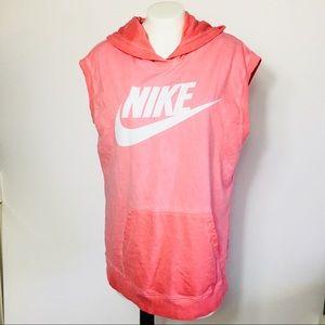 Nike Sleeveless Graphic Hoodie Large